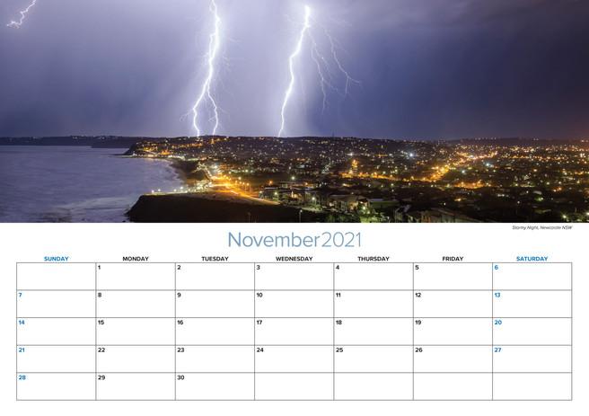 2021 A3 Calendar Striking Newcastle Nov