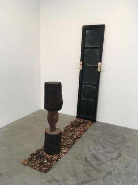 The narrow door, wooden door