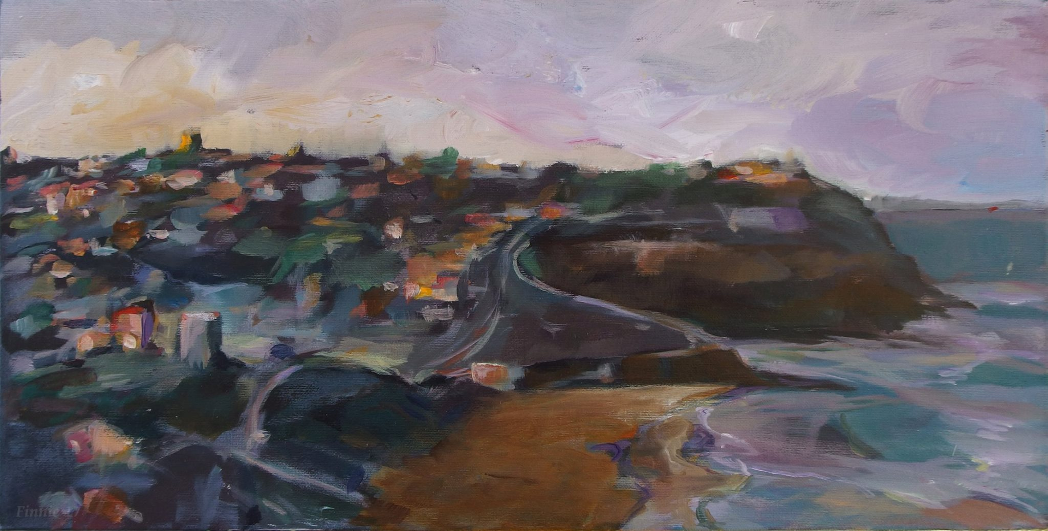 Merewether 2015, acrylic on canvas, 60 x 30 cm -
