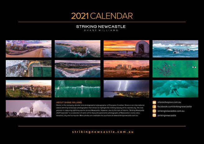 2021 A3 Calendar Striking Newcastle Back