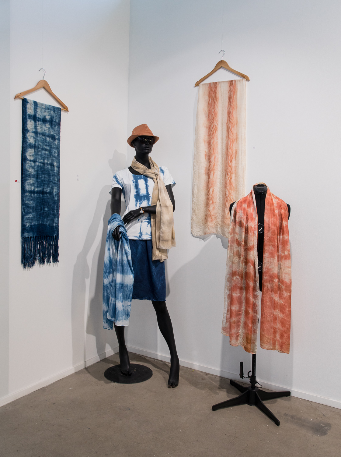 Mixed scarves by Mary Graham
