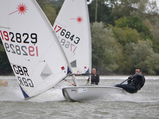 Wild Winds for Lasers at Sutton Bingham Sailing Club