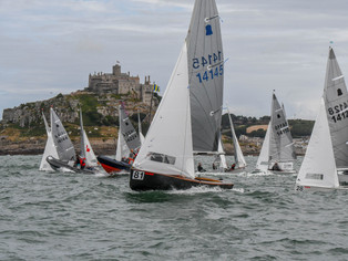 The World's Best GP14 Sailors Took on the High Seas in the Shadow of St Michaels Mount