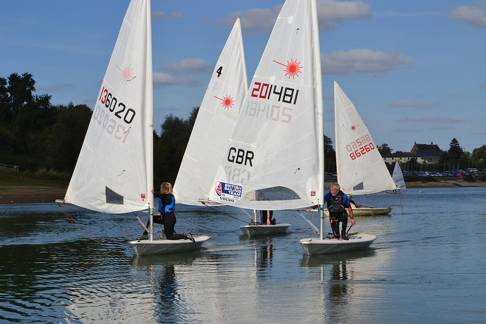 Beautiful sunshine and competitive light air sailing at Sutton Bingham Laser Open - photo, Saffron Gallagher