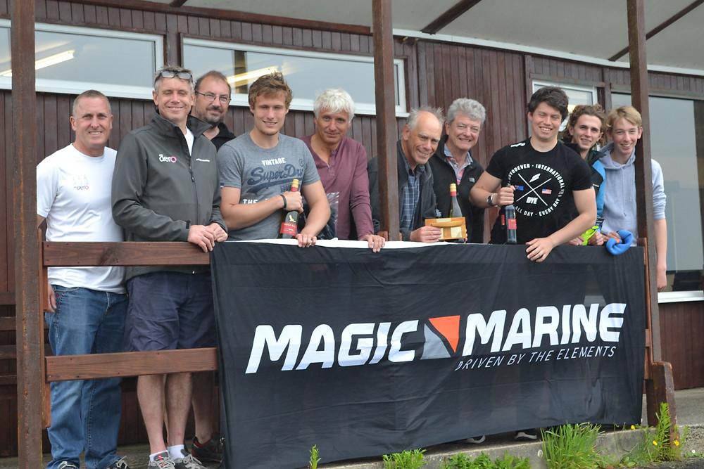 RS Aero & Solo prize winners at Sutton Bingham Sailing Club