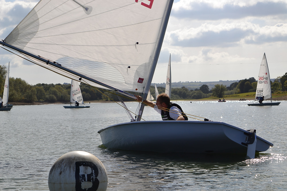Jon Emmett dominated the Laser Standard fleet at Sutton Bingham - photo, Saffron Gallagher