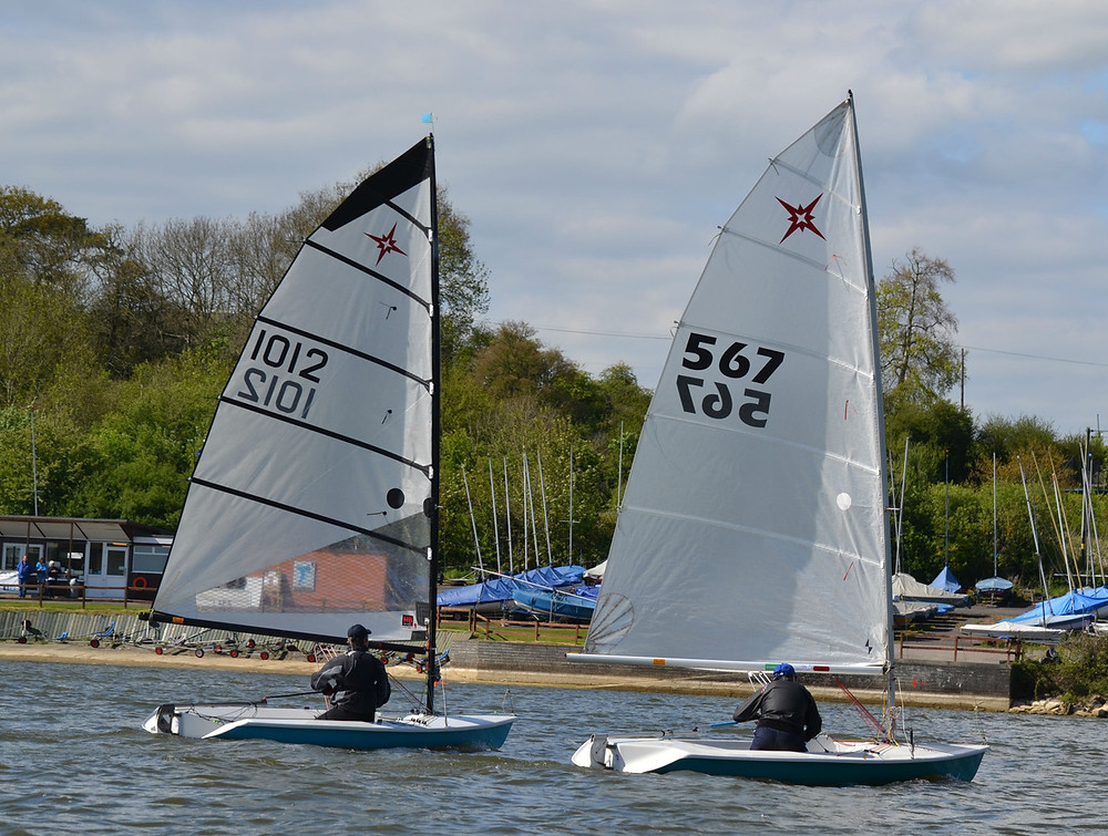 Local sailors Adrian Neal (1012) and Mike Riley (567) finished 4th and 6th in the Supernovas at Sutton Bingham