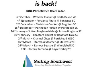**SSW WINTER SERIES 2018-19 ANNOUNCEMENT** Event Dates and New Sponsors