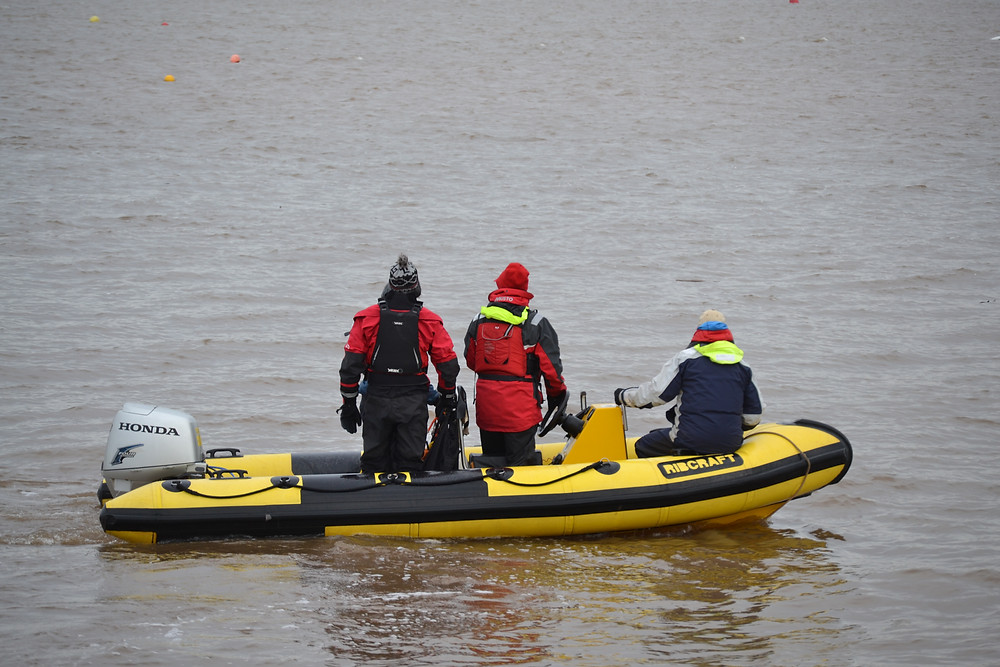 Rescue boat crew at Starcross Steamer 2017