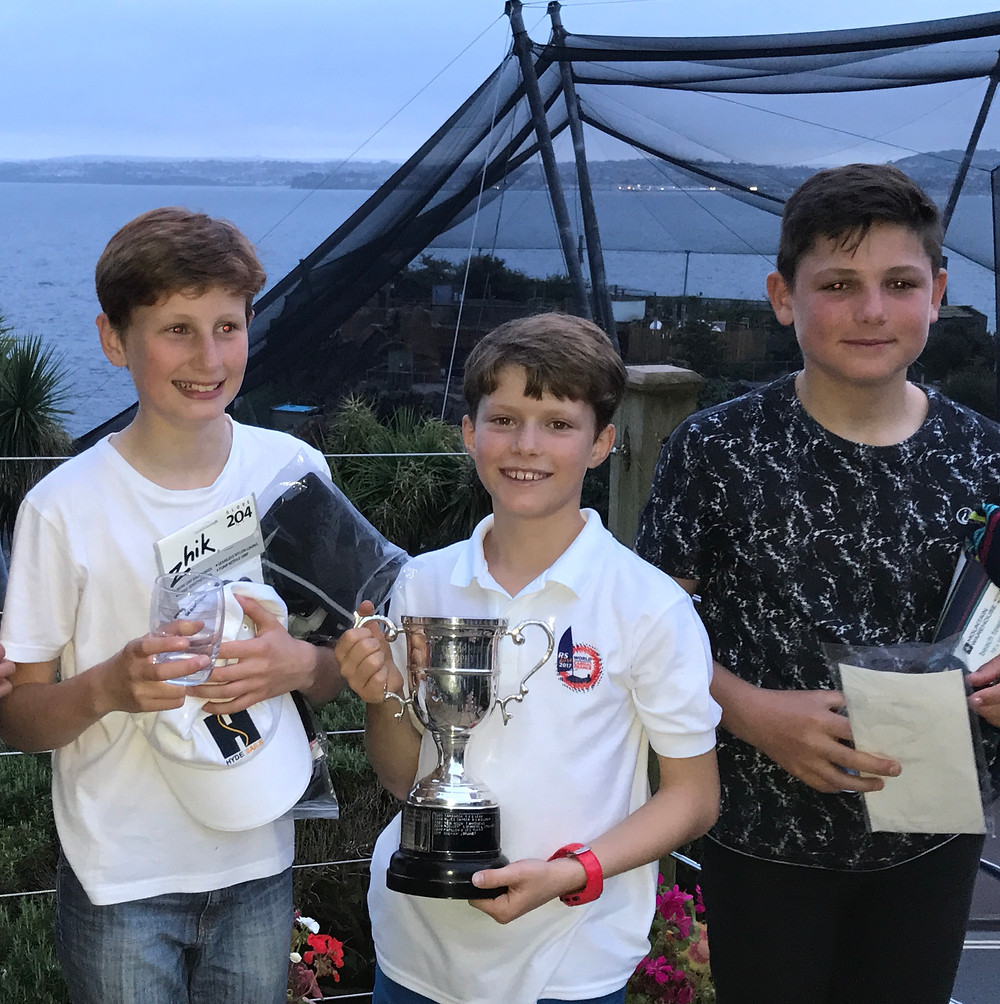 Miles, William, Toby from Paignton Sailing Club at RTYC prize giving.