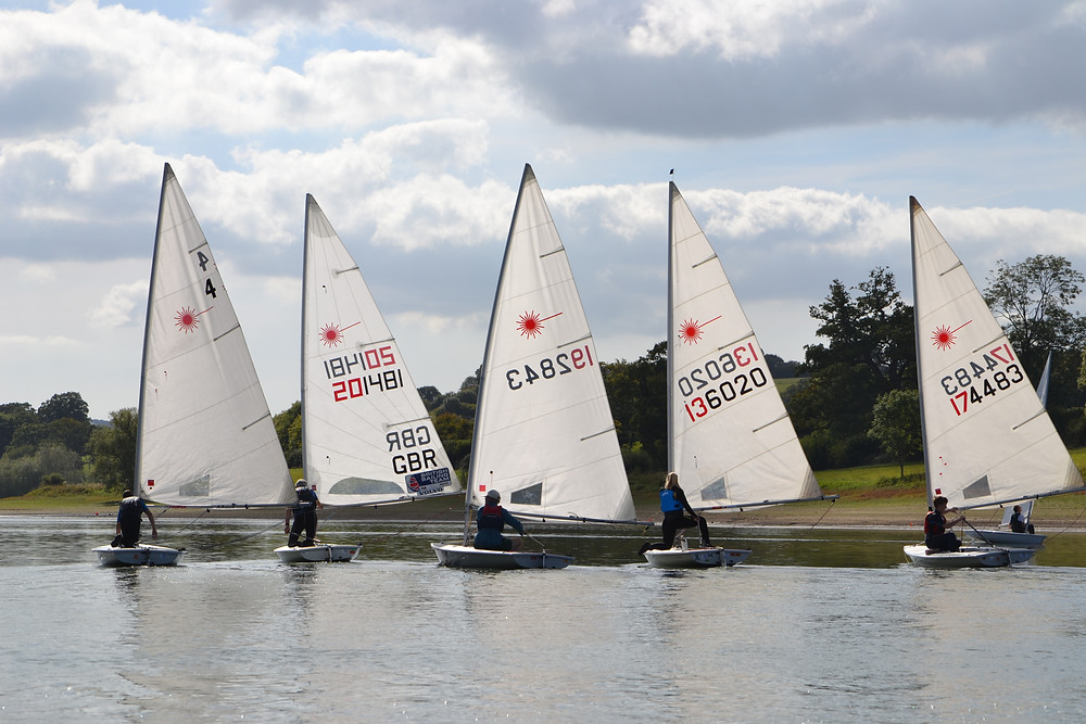 Light breeze and tight racing at Sutton Bingham Laser Open - photo, Saffron Gallagher