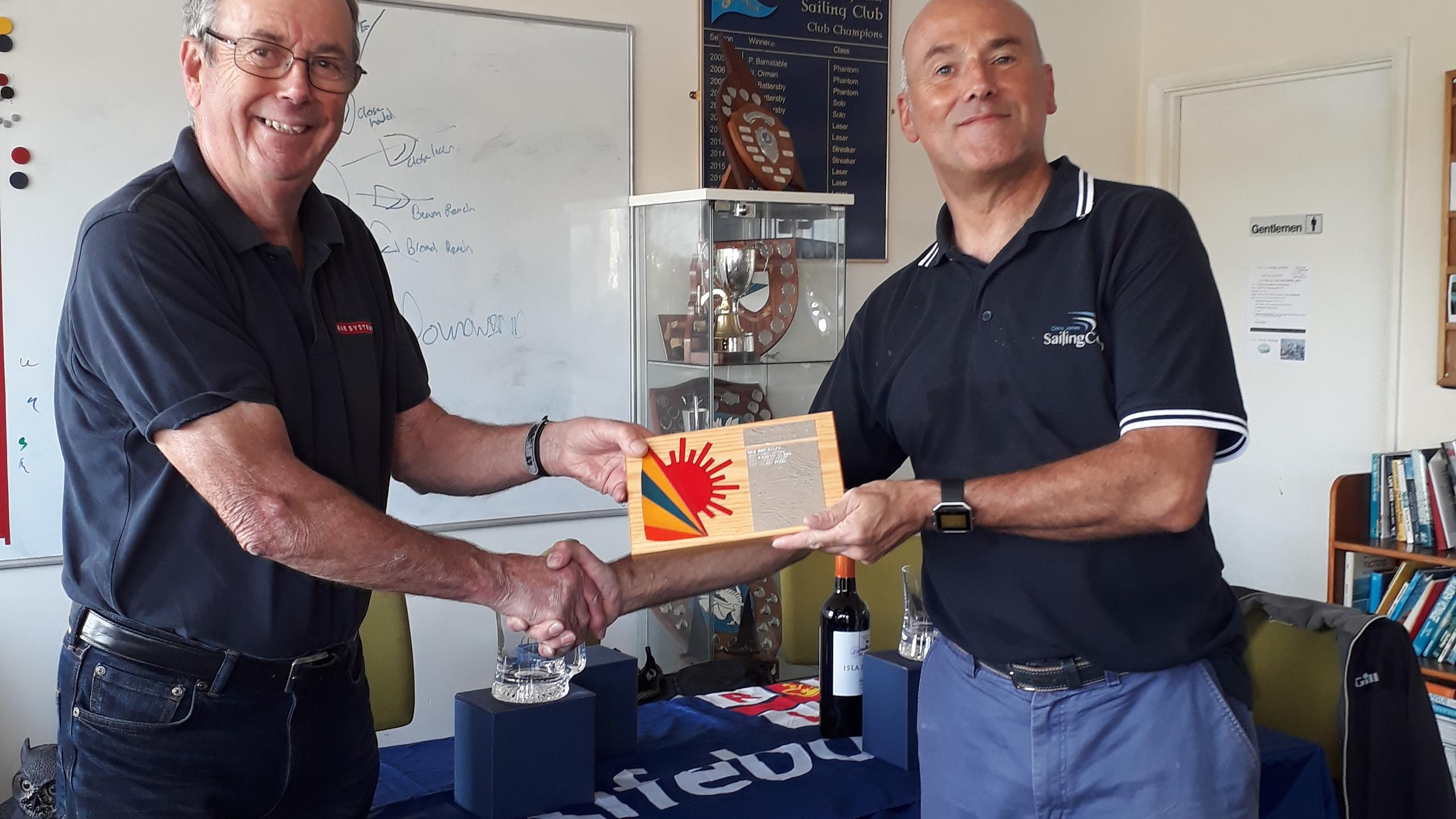 Mervyn Clark awards Laser Radial fleet t