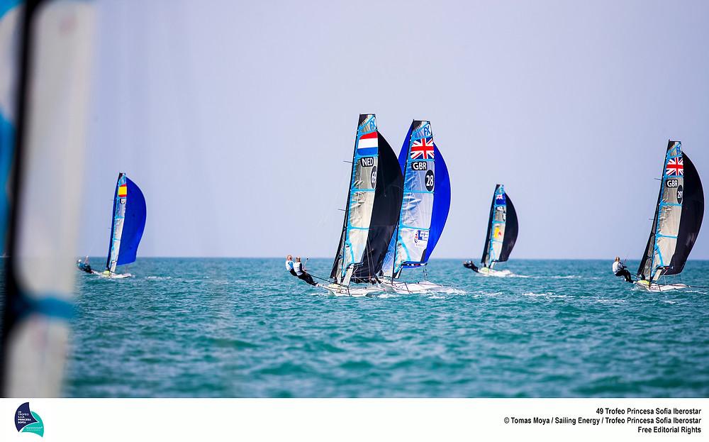 Sophie Ainsworth (crew) and Sophie Weguelin (Helm) Photographer & Copyright: Tomás Moyá/Sailing Energy/Trofeo Princesa Sofia Iberostar
