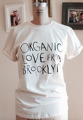 Organic Love T shirt-Unisex Natural