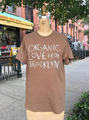 Organic Love T shirt-Brown