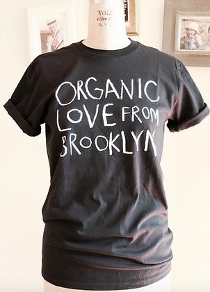 Organic Love T shirt-Unisex Black