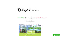 Simple Function Web Design Here's my own site designed with Wix to be simple ...