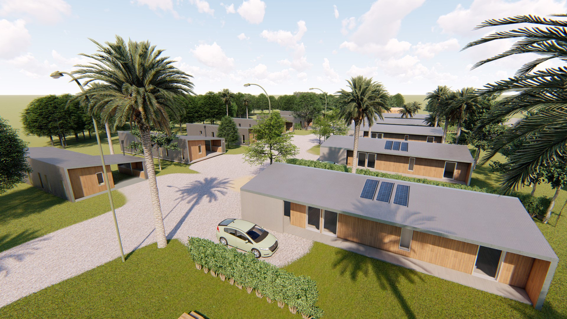 Barrio social - vivienda social sustentable cauh