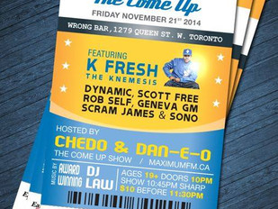 Toronto, ON - #BIGTICKET: THE COME UP FEATURING K-NEMESIS!