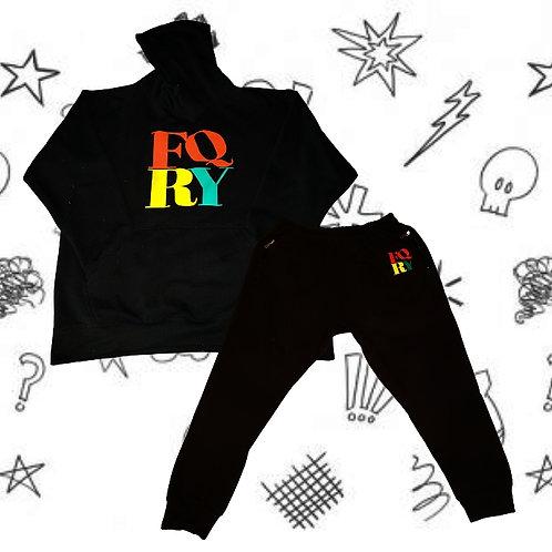"""YRQF """"RYG"""" Black Jogging Suit"""