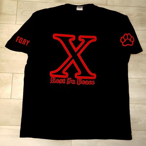 X Memorial Black Tee