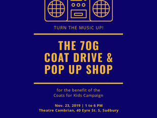 7OG Coat Drive & Pop Up Shop (Sudbury, ON)