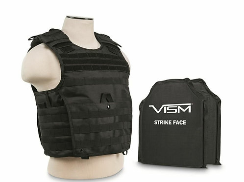 VISM By NcSTAR Expert Plate Carrier Vest with Two Level 3A Soft Body Armor