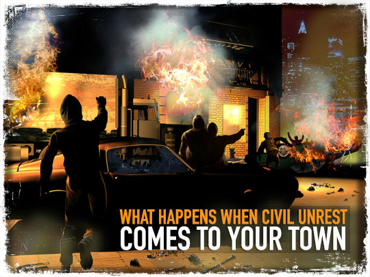 WHAT HAPPENS WHEN CIVIL UNREST COMES TO YOUR TOWN