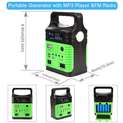 Portable Solar Generator Lighting System - UPEOR Solar Power Generator Kit for E