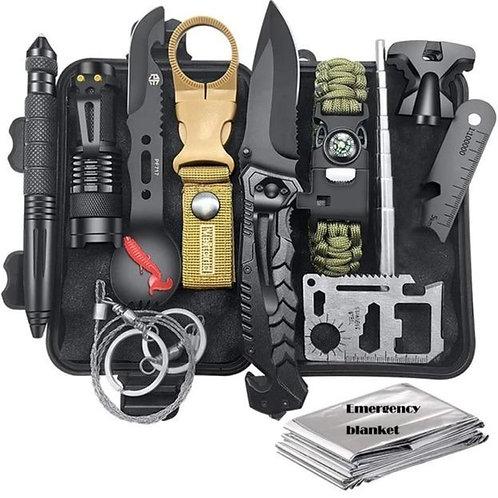 Survival Kit 12 In 1 Fishing Hunting Sos,Edc Survival Gear Emergency Camping Hik