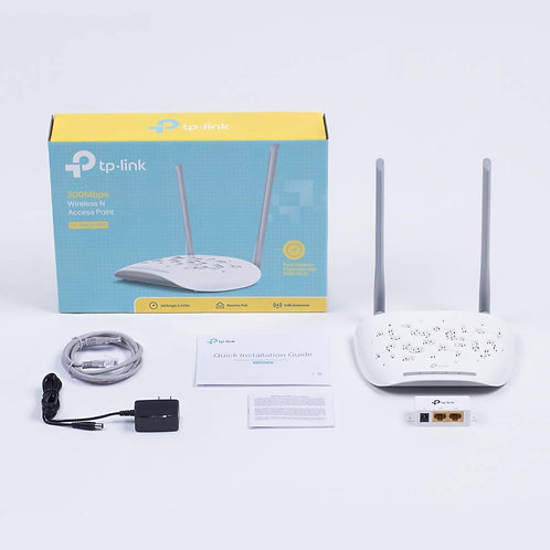 TP-Link Wireless N300 2T2R Access Point, 2.4Ghz 300Mbps, 802.11b/g/n, AP/Client/