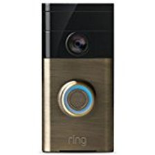 Ring Wi-Fi Enabled Video Doorbell in Satin Nickel, Works with Alexa