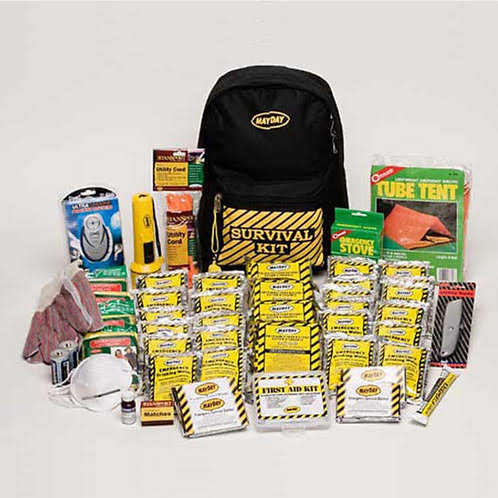 Mayday Industries 3 Person Deluxe Emergency Backpack Kit