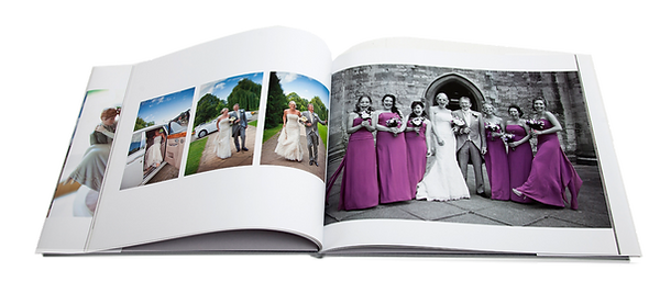 High quality book-bound wedding album from Studio3