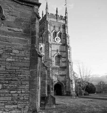 Abbey Clock Tower Evesham New