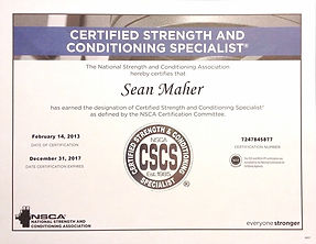 Certified Strength and Conditiong Specialist Sean Maher