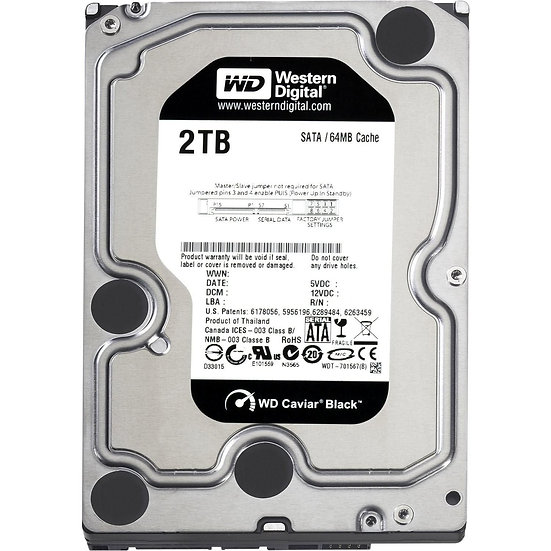 """Western Digital WD 3.5"""" Internal HDD 2 TB (Black)"""