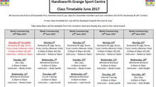 June's Fitness Class Rota Released