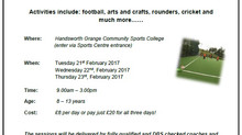 February Half-Term Holiday Camp