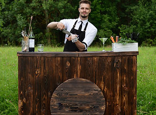 Catering bar service, bartender workplac