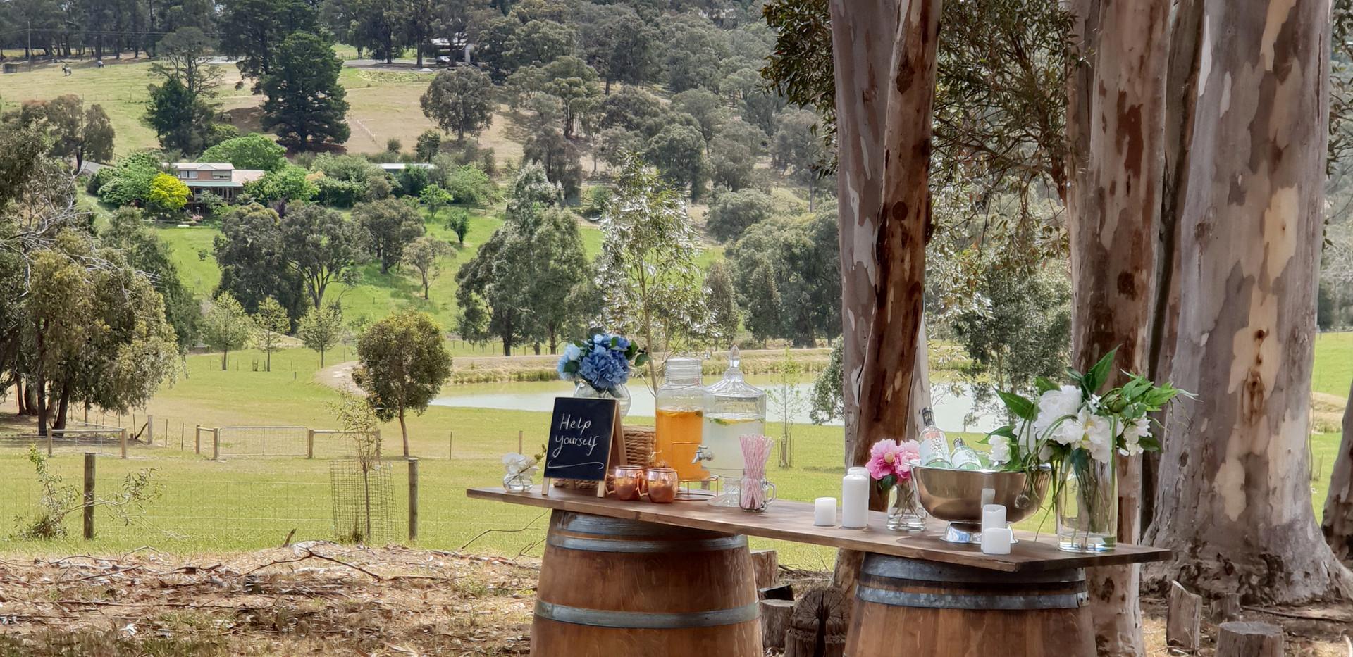 Wedding Wine Barrel Bar