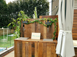 Rustic Bar Backyard Wedding