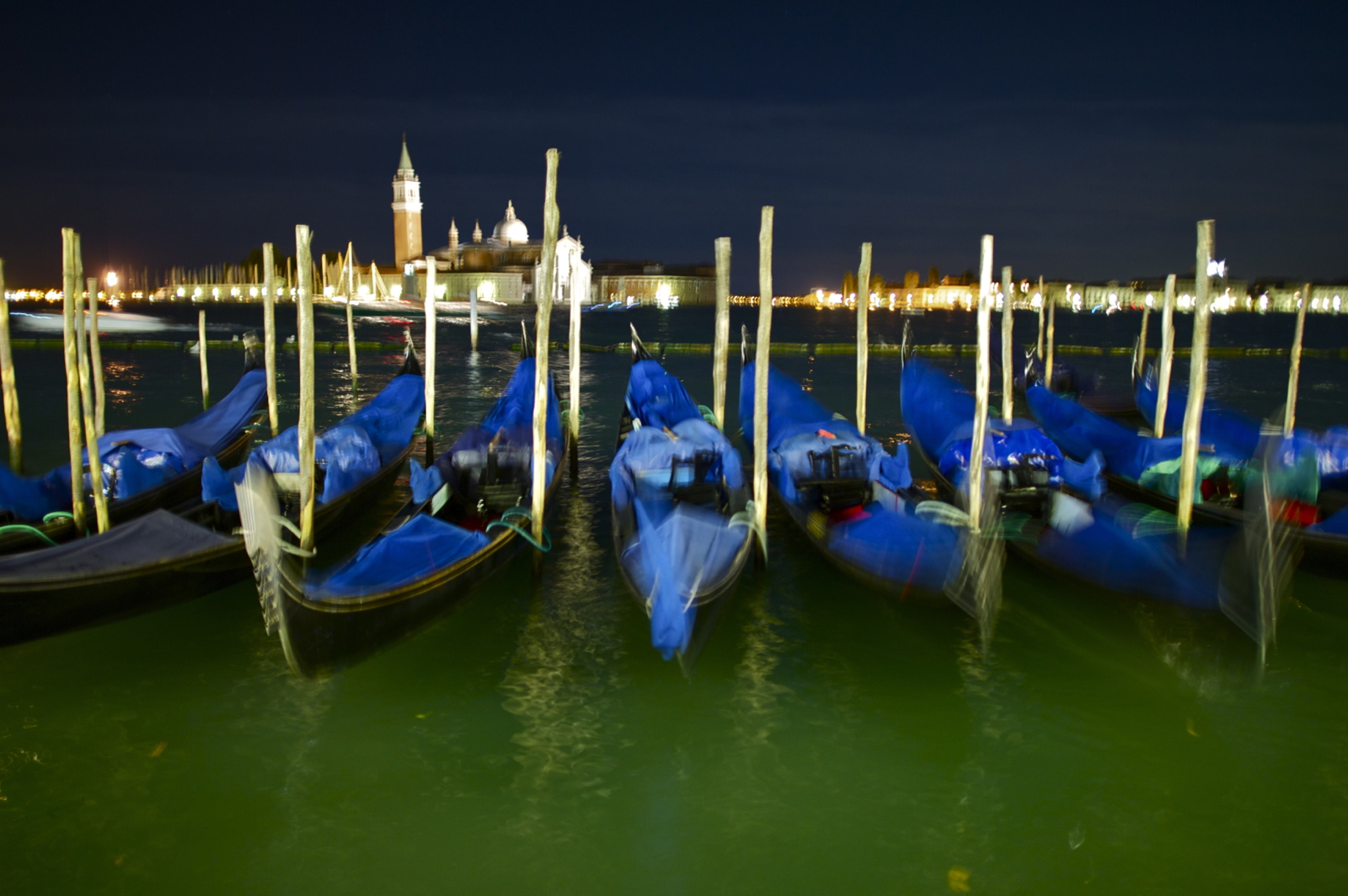 Gondolas In The Night