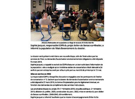 EDPR a organisé une réunion d'information