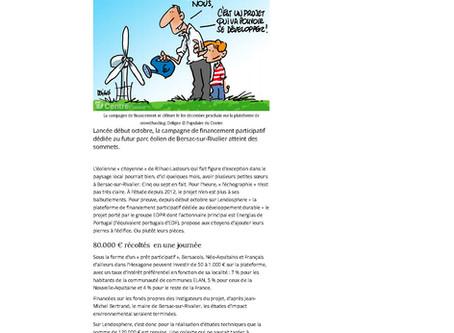 Le vent du financement participatif souffle sur le projet du premier parc éolien de Haute-Vienne