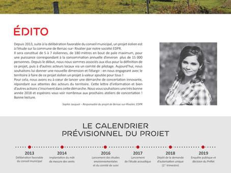 Lettre d'information n°1 Projet éolien de Bersac-sur-Rivalier