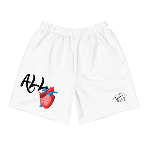 ALL HEART Ball Facts Men's Athletic Long Shorts