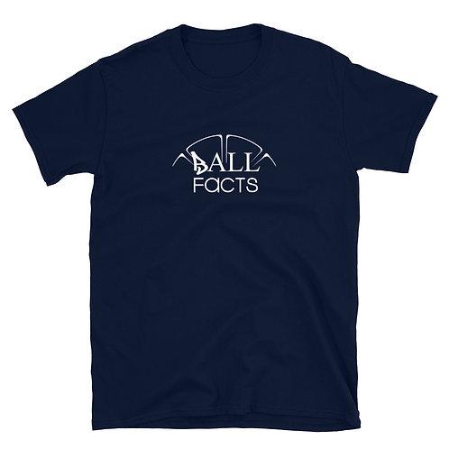 Ball Facts Short-Sleeve Unisex T-Shirt (White on Dark)
