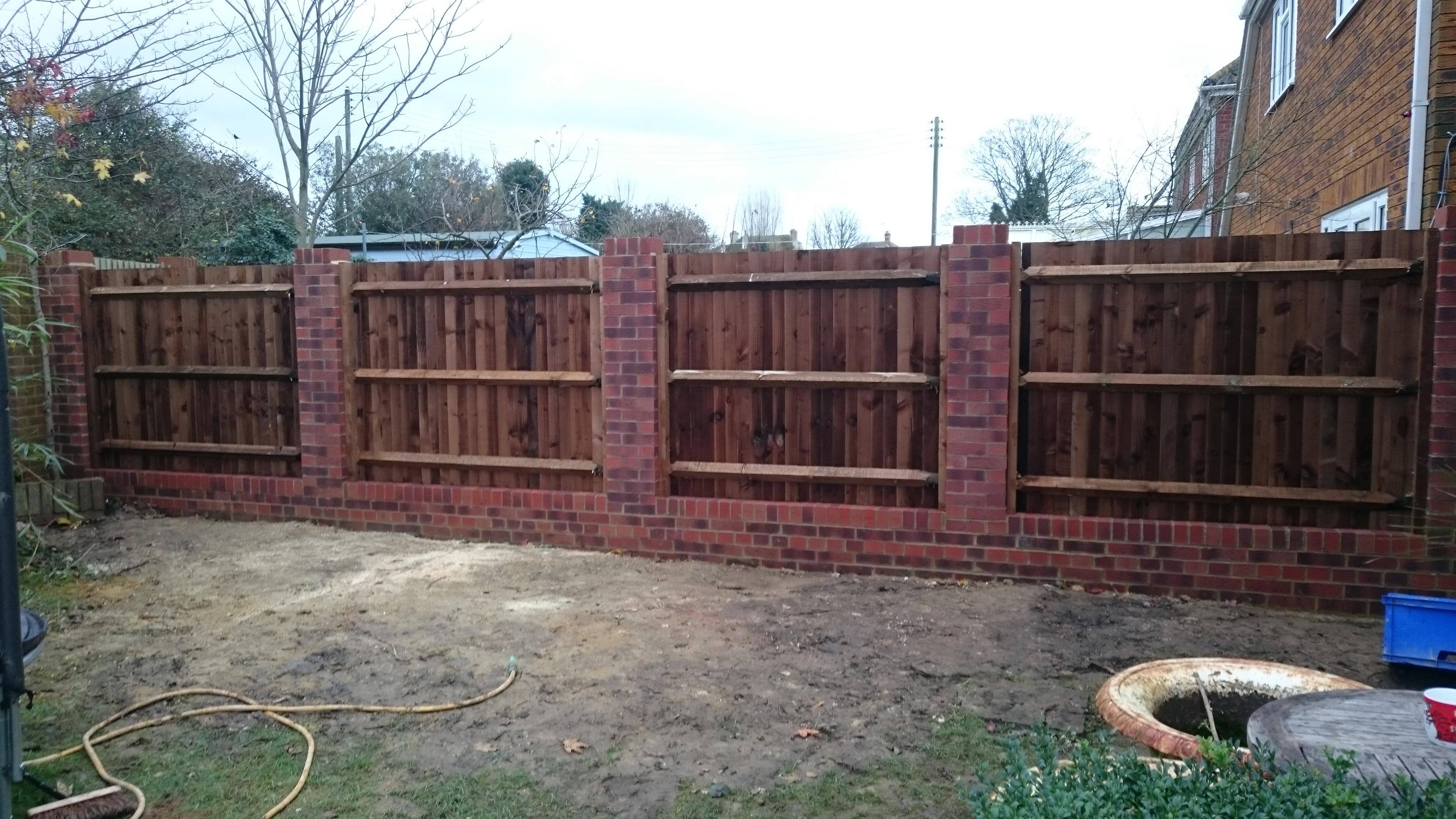 Garden Wall & Close Board Lower Stoke Kent