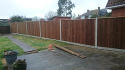 Rear Garden Fence High Halstow Kent